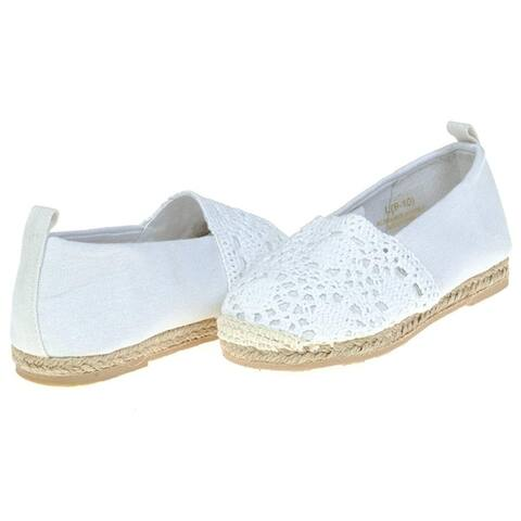 Chatties Toddler Crochet & Canvas Espadrilles