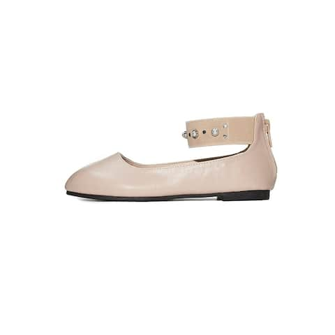 Sara Z Toddler Girl Mary Jane Ballerina Flat Shoes with Ankle Strap