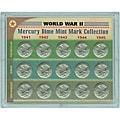 American Coin Treasures World War II Mercury Dime Mint Mark Collection