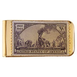 American Coin Treasures Brass Train Stamp Money Clip|https://ak1.ostkcdn.com/images/products/3036195/American-Coin-Treasures-Brass-Train-Stamp-Money-Clip-P11178547.jpg?impolicy=medium