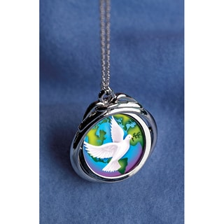American Coin Treasures World Peace Spinner Pendant with Silver Half Dollar