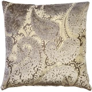 Pillow Decor - Rochelle Owl Paisley Velvet Pillow 20x20