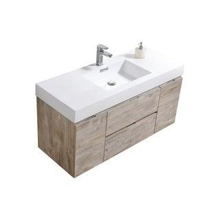 """Link to Bliss 48"""" Nature Wood Wall Mount Single Sink Modern Bathroom Vanity Similar Items in Bathroom Vanities"""