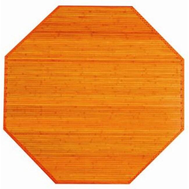 Orange Rayon from Bamboo Rug (3' Octagonal)