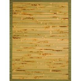 Handmade Variegated Rayon from Bamboo Rug (4' x 6')