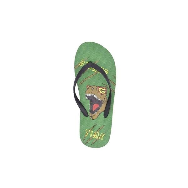 Chatties Boys Flip Flop Little Kid Fun Print Thong Sandal