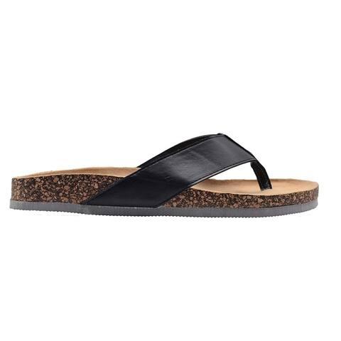 Gold Toe Mens Sandal Flip Flop Slide with Color Sole Slip On Shoe