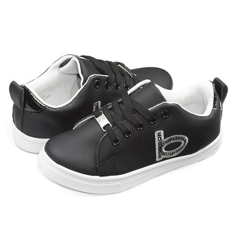 bebe Kids Girls Low Top Lace up Sneakers Studs
