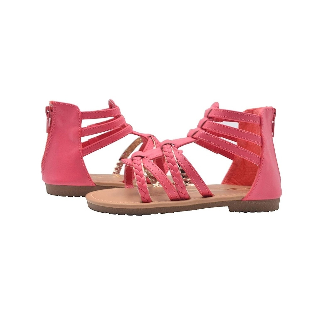 Little Kid//Big Kid bebe Girls Double Buckle Gladiator Sandals