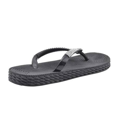 Gold Toe Ladies Sandal PCU Flip Flop Rhinestone Slip On Thong Shoe