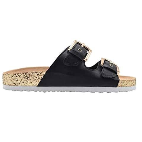 Gold Toe Ladies Footbed Sandal Flip Flop Slip On Slide Shoe