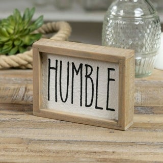"Humble Wooden Box Sign 6"" x 4.5"""
