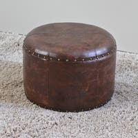 International Caravan Carmel Round Ottoman Stool