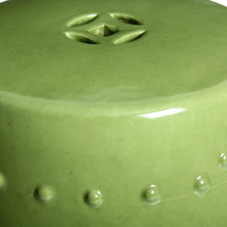 Enjoyable Handmade Porcelain Moss Green Garden Stool China Pabps2019 Chair Design Images Pabps2019Com