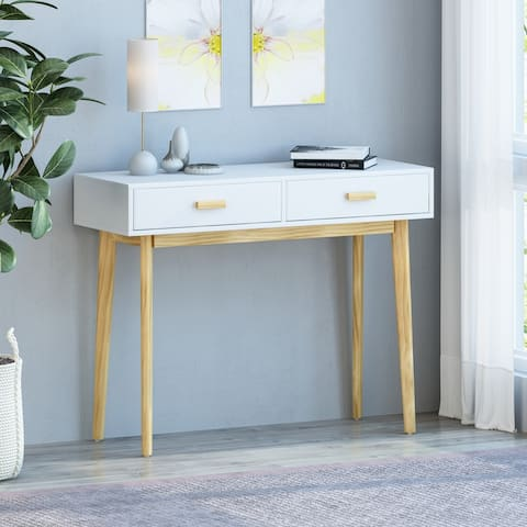 """Pickford Mid-Century Modern 2 Drawer Console Table by Christopher Knight Home - 39.50"""" W x 14.00"""" D x 30.50"""" H"""