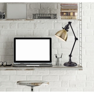 Link to Adesso Antique Bronze Alden Desk Lamp Similar Items in Table Lamps