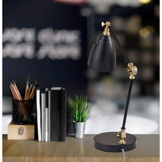 Link to Adesso Boston Black & Antique Brass Desk Lamp Similar Items in Table Lamps