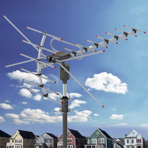 Outdoor HD TV Antenna, UHF/VHF/FM Radio with Remote Control