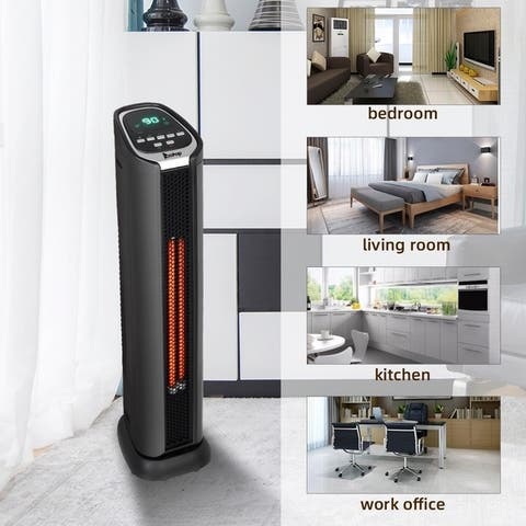 Electric Space Heater -1500W Infrared Tower Heater Fan