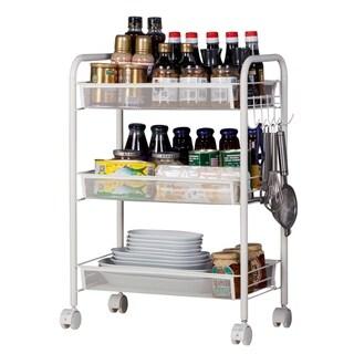 3-Tier Kitchen Rolling Utility Cart Trolley Storage Cart