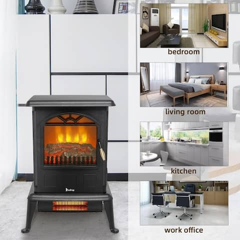 Portable Infrared Fireplace Heater - Electric Fireplace Stove