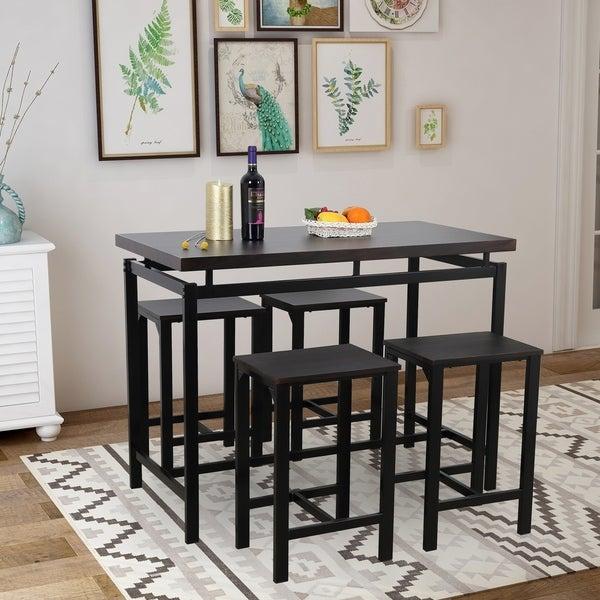 Copper Grove Snaefell 5-piece Counter-height Dining Table Set