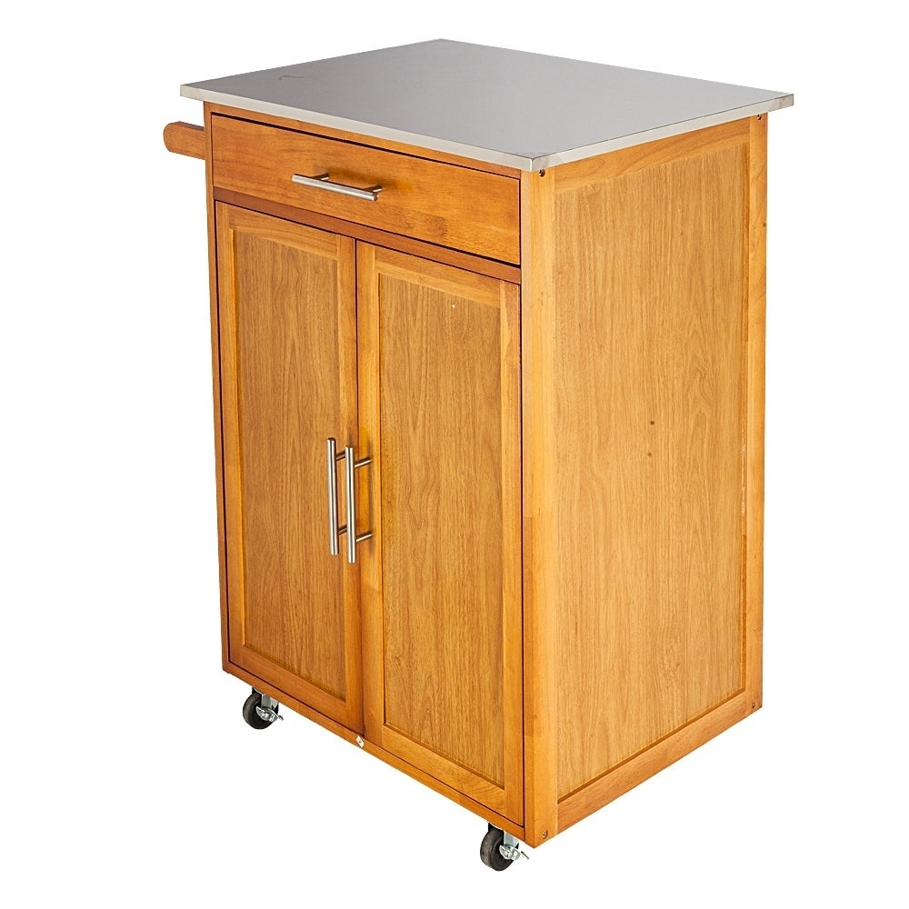 Kitchen Cart Rolling Island Storage Unit Cabinet Utility - N/A