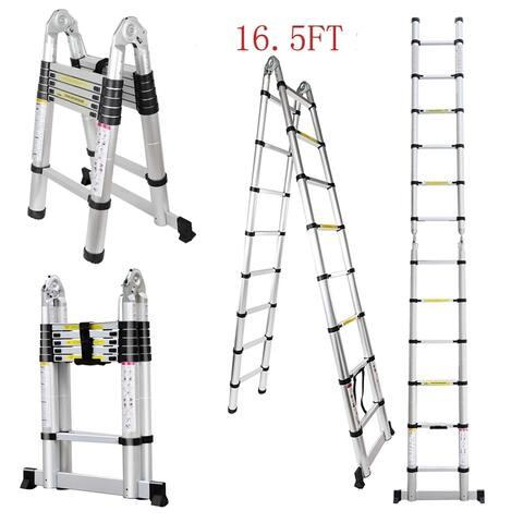 Extendable Folding Multi-Purpose Aluminum Telescopic Extension Ladder