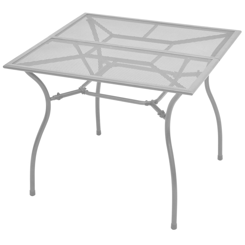 Outdoor Dining Table Steel Mesh 35