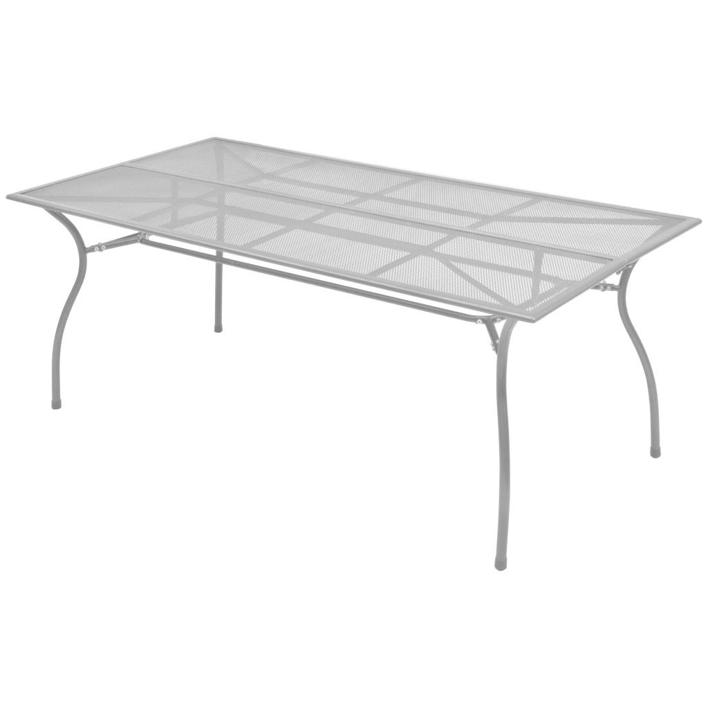 Outdoor Dining Table Steel Mesh 70