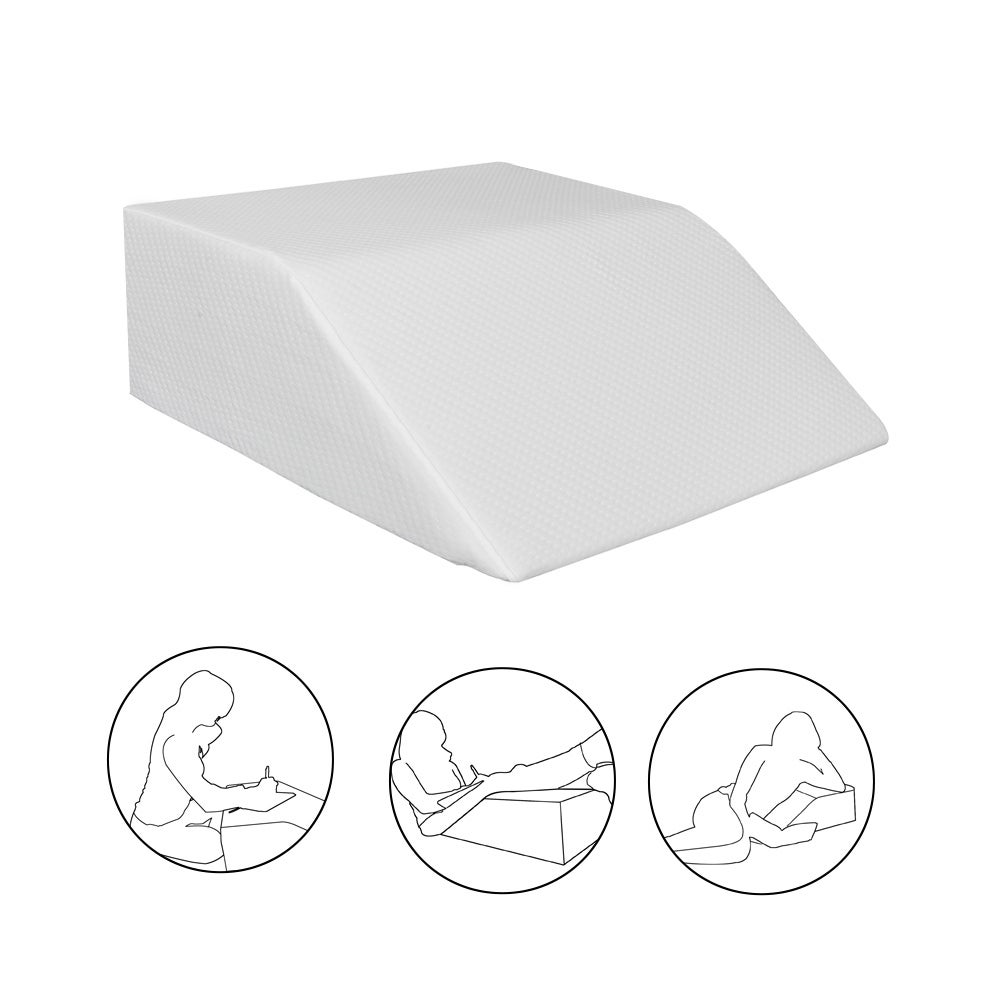 Bed Wedge Pillow, Post Surgery Elevating Leg Rest Pillow - White