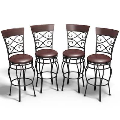 Copper Grove Esperance Swiveling Vintage Bar Chairs (Set of 2)