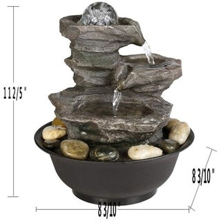 Small Relaxation Waterfall Feature with LED Lights&Ball