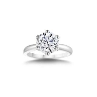 ClassicDiamondHouse ExquisiteClassicDiamondHouse Exquisite Women's Wedding  & Engagement Ring 1.38 Ct Round Cut Diamond Set in 14K White Gold Clarity  Enhanced (4.5)   DailyMail
