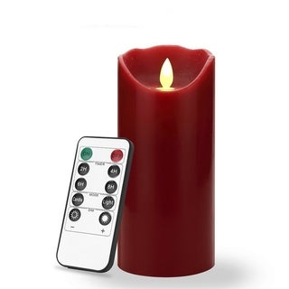 7 inch Flameless LED Candle - Real Wax & Real Flickering Candle Motion