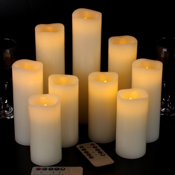 Flameless Candles Battery Operated Candles Ivory Real Wax