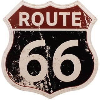 Route 66 Signs, Home & Garage Wall Decoration 12× 12 Inches