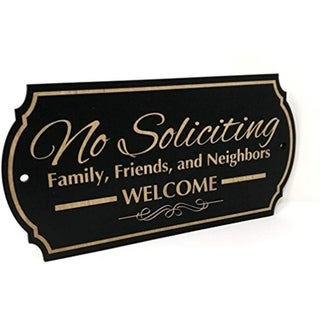 "Family Friends and Neighbors Welcome Front Door Sign (3"" x 6"")"