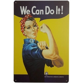 """Pin-up Girl We Can Do It Metal Retro Vintage Tin Signs 12"""" X 8"""" Inches"""