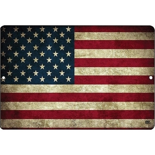 USA American Flag Metal Tin Sign Wall Decor Man Cave Bar