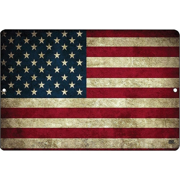 USA American Flag Metal Tin Sign Wall Decor Man Cave Bar