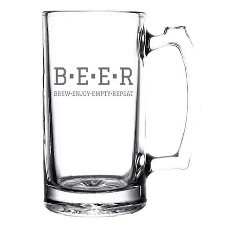 Brew Enjoy Empty Repeat Beer Mug