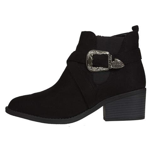 Via Rosa Womens Microsuede Chelsea Boots Slip-On Fashion Shoes
