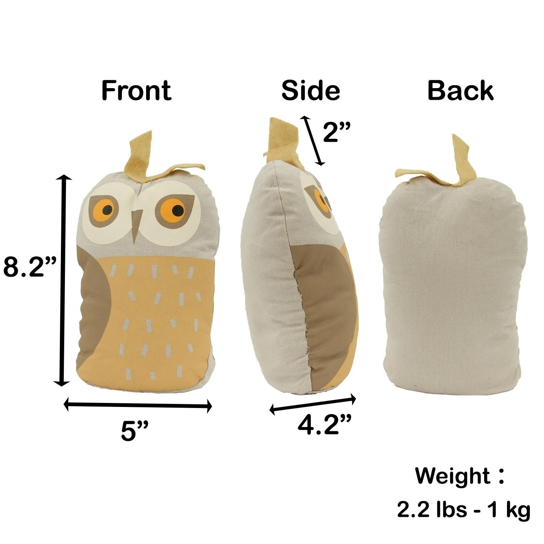 Owl Fabric Bag Door Stop Interior Weighted Floor 2 2 Lbs 5 L X 4 2 W X 8 2 H Overstock 30366852
