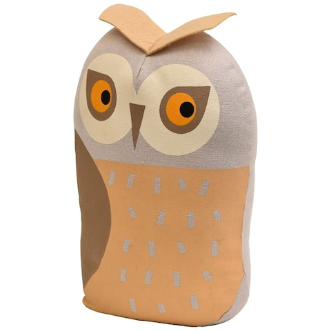 "Owl Fabric Bag Door Stop Interior Weighted Floor 2.2 lbs - 5""L x 4.2""W x 8.2""H"
