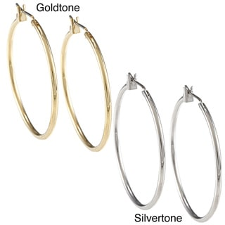 Kate Bissett High-polish Hoop Earrings with Saddleback Clasp