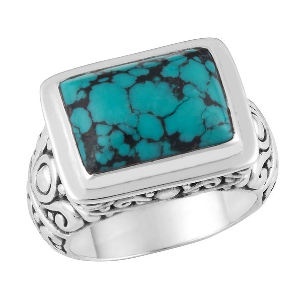 Handmade Sterling Silver Turquoise Ring (Indonesia)