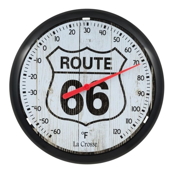 "La Crosse 104-108-R66 8"" Route 66 Round Dial Thermometer"