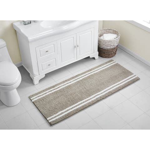 VCNY Home Hotel Stripe Noodle Bath Runner