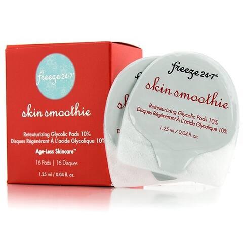 Freeze 24-7 Skin Smoothie Retexturizing Glycolic Pads 10%, 16 Pads, 0.04 Oz